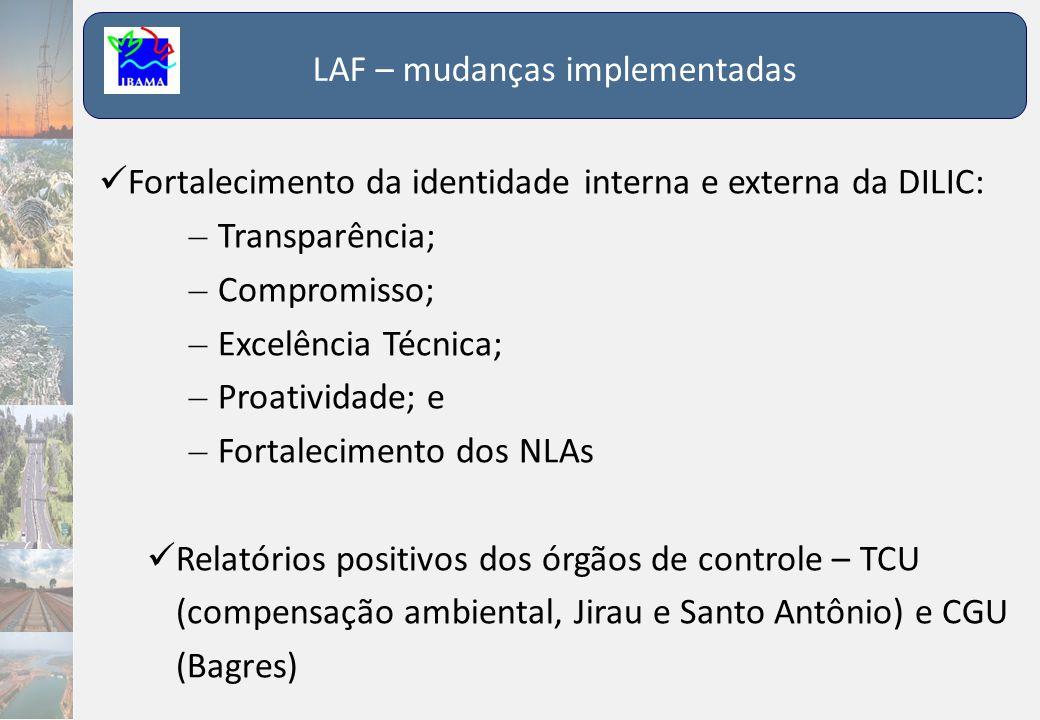 LAF – mudanças implementadas