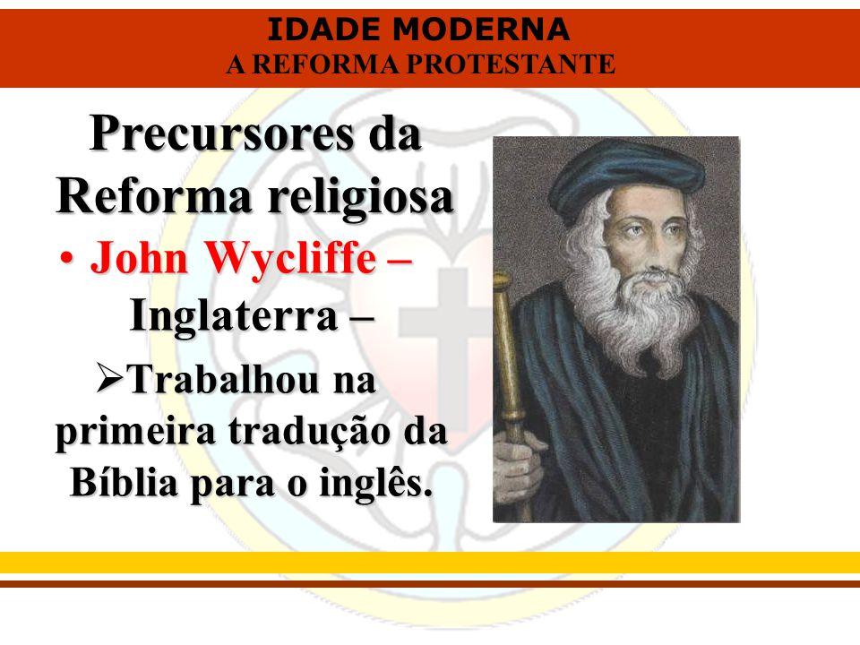 Precursores da Reforma religiosa