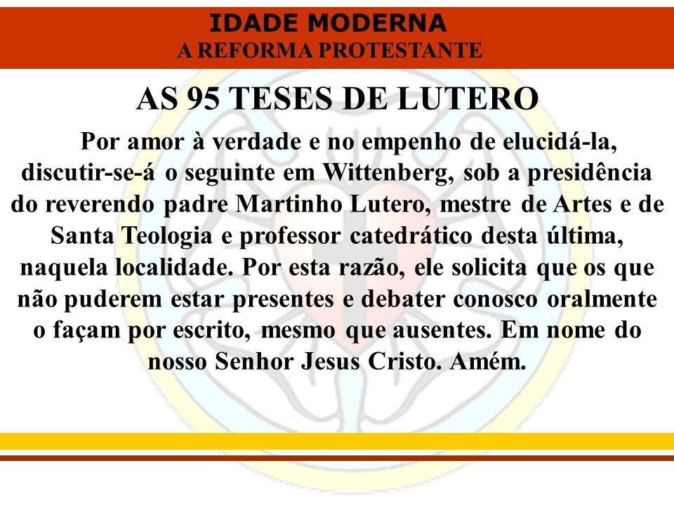 AS 95 TESES DE LUTERO