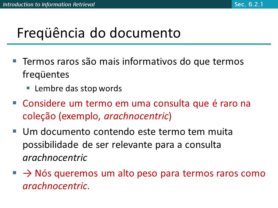 Freqüência do documento