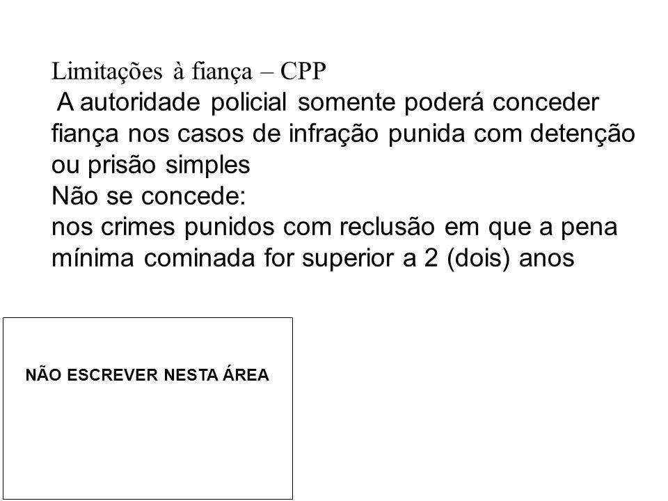 Limitações à fiança – CPP