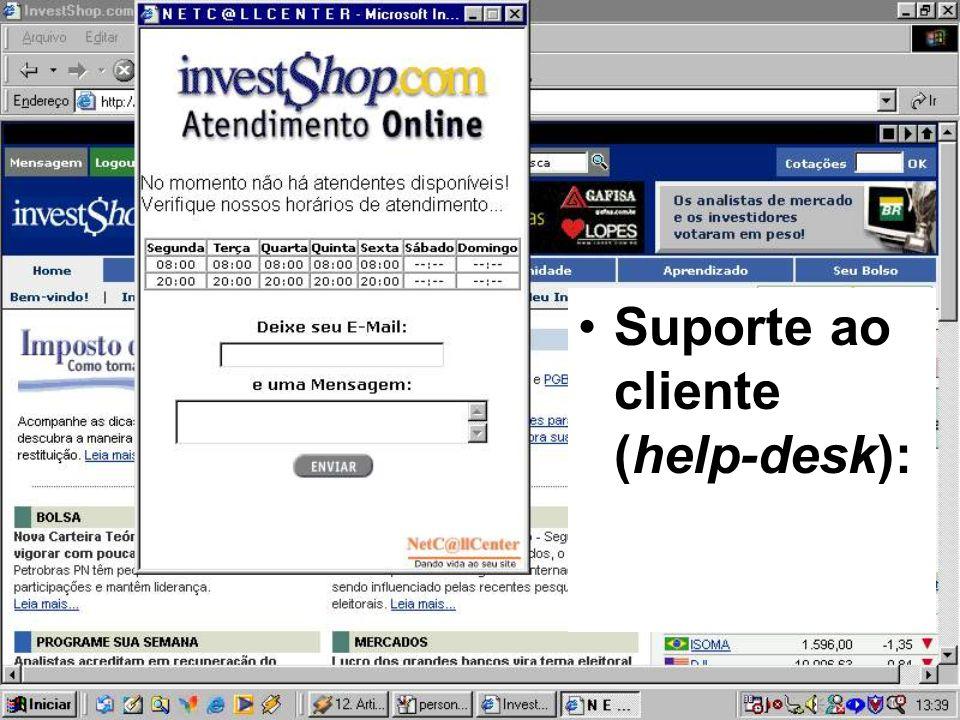 Suporte ao cliente (help-desk):
