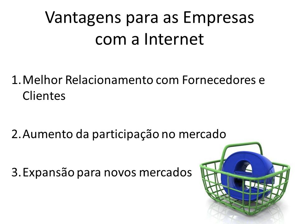 Vantagens para as Empresas com a Internet