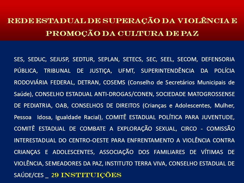 REDE ESTADUAL DE SUPERAÇÃO DA VIOLÊNCIA E PROMOÇÃO DA CULTURA DE PAZ