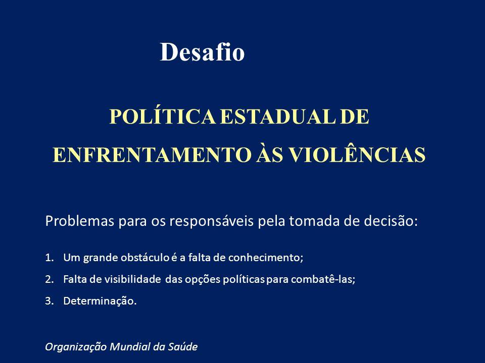 POLÍTICA ESTADUAL DE ENFRENTAMENTO ÀS VIOLÊNCIAS