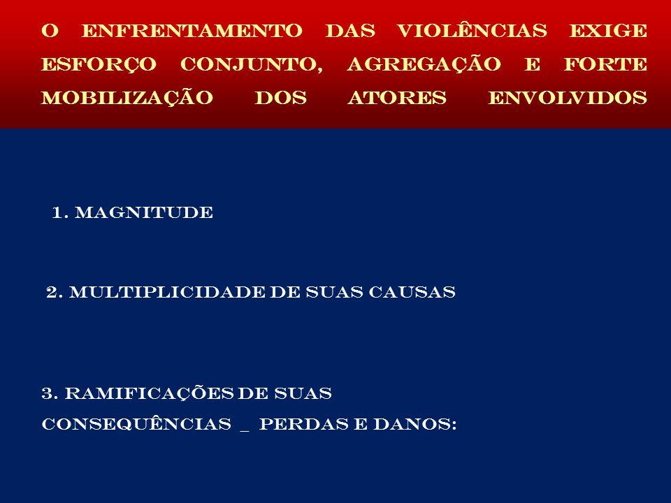 O ENFRENTAMENTO DAS VIOLÊNCIAS EXIGE ESFORÇO CONJUNTO, AGREGAÇÃO E FORTE MOBILIZAÇÃO DOS ATORES ENVOLVIDOS