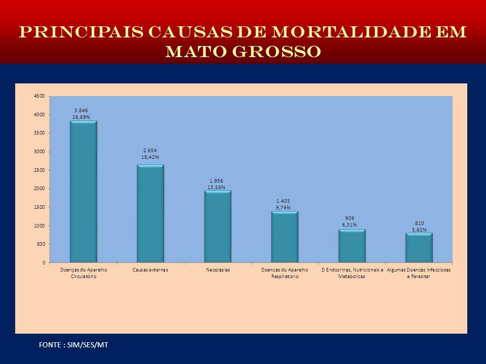 PRINCIPAIS CAUSAS DE MORTALIDADE EM MATO GROSSO