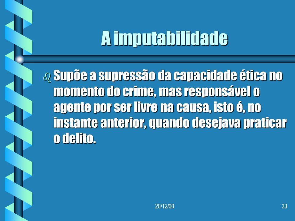 A imputabilidade