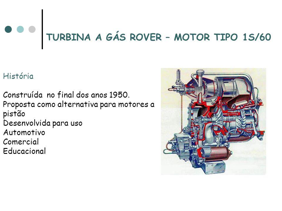 TURBINA A GÁS ROVER – MOTOR TIPO 1S/60