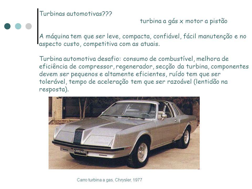turbina a gás x motor a pistão