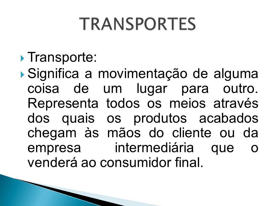 TRANSPORTES Transporte: