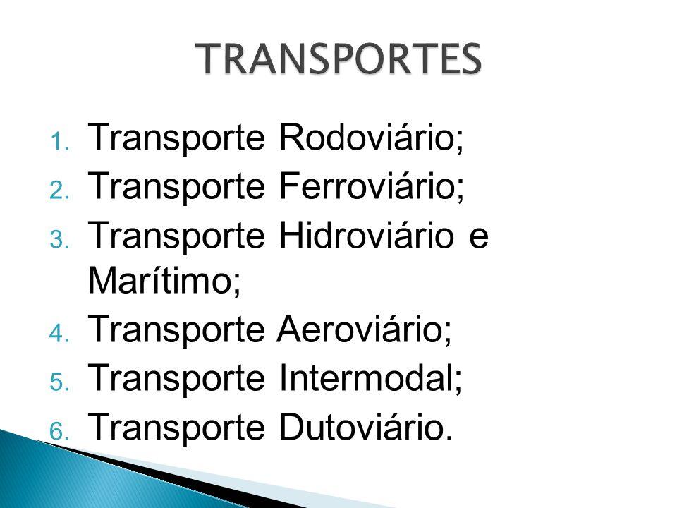 TRANSPORTES Transporte Rodoviário; Transporte Ferroviário;