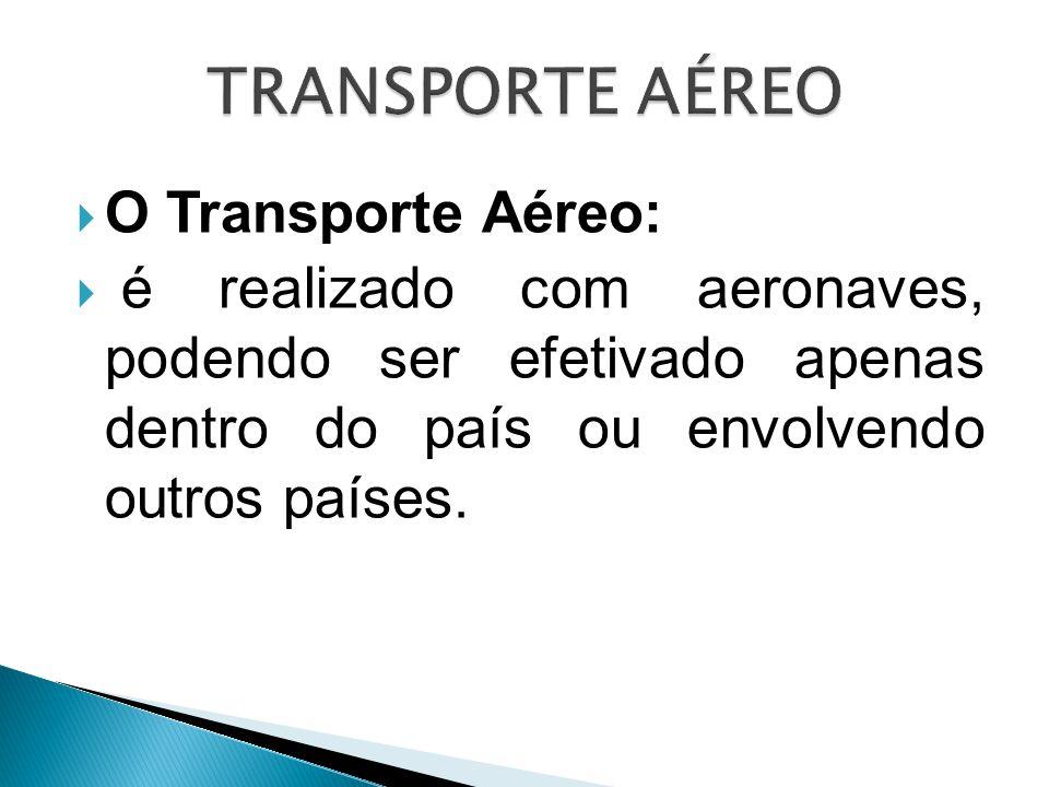 TRANSPORTE AÉREO O Transporte Aéreo: