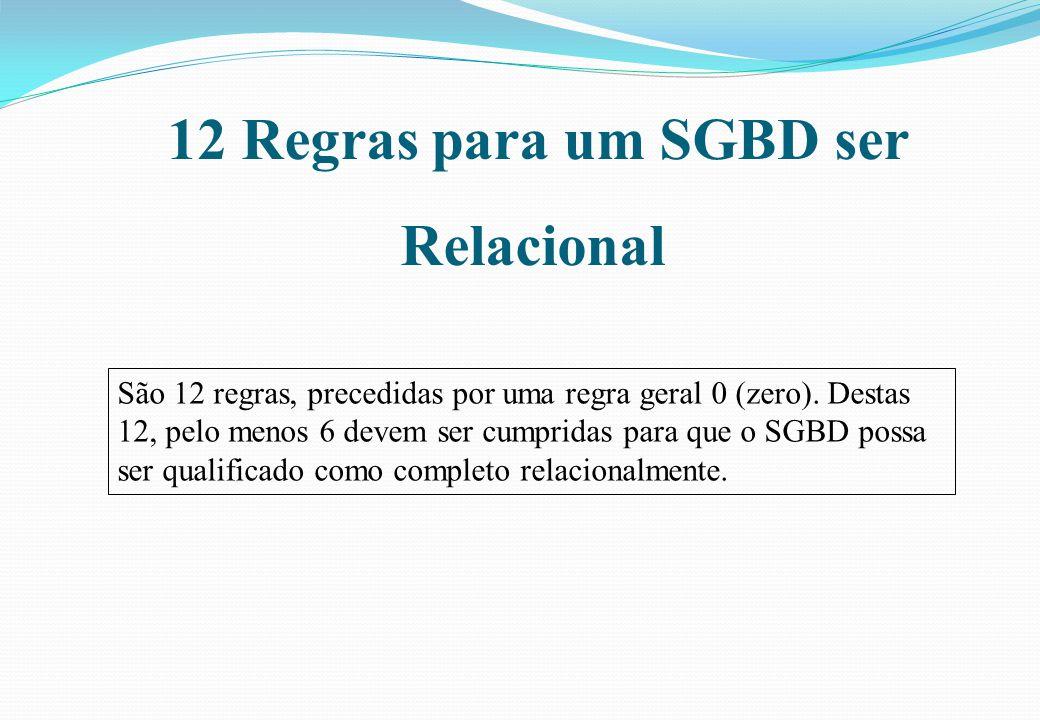 12 Regras para um SGBD ser Relacional