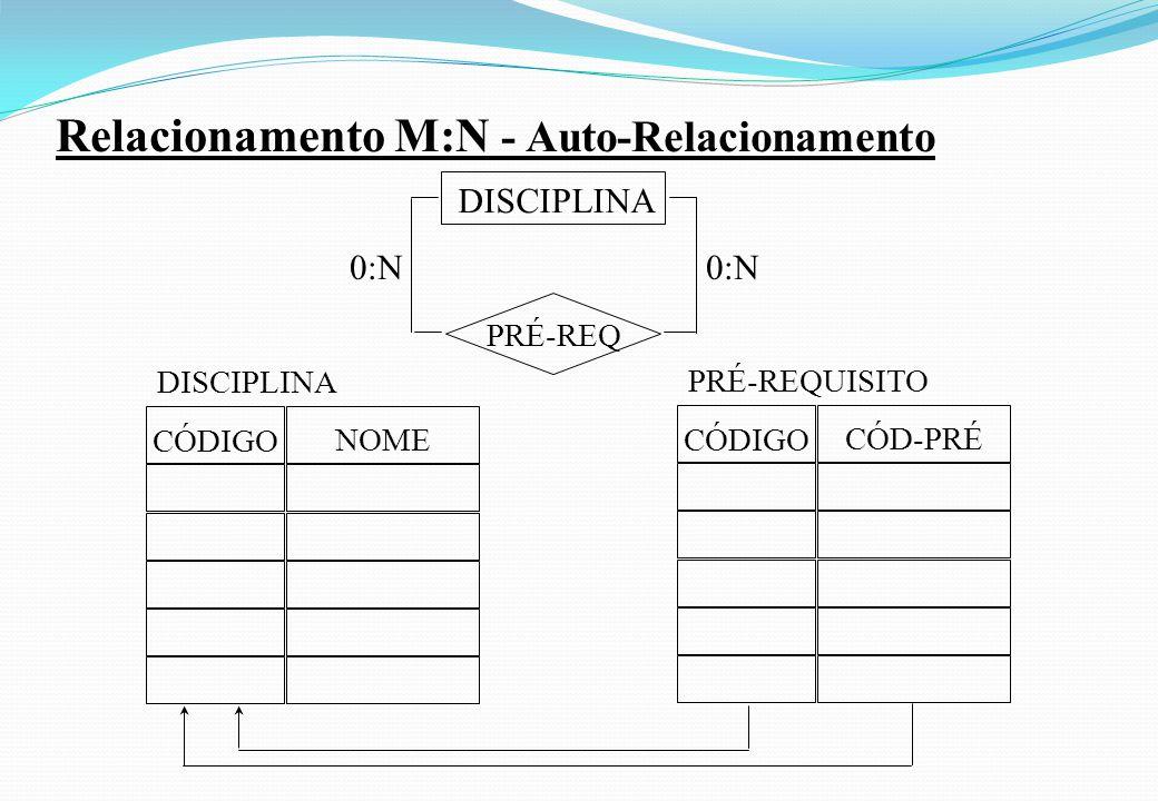 Relacionamento M:N - Auto-Relacionamento