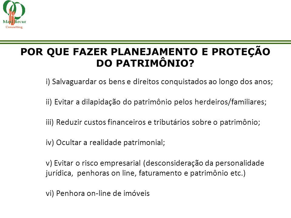 POR QUE FAZER PLANEJAMENTO E PROTEÇÃO DO PATRIMÔNIO