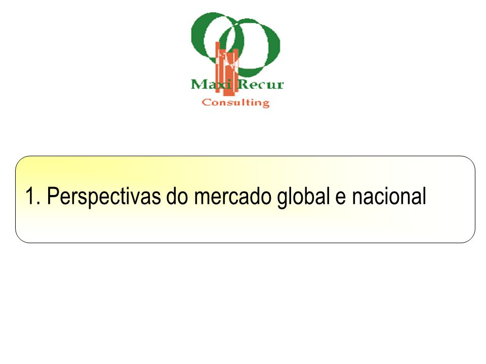 1. Perspectivas do mercado global e nacional