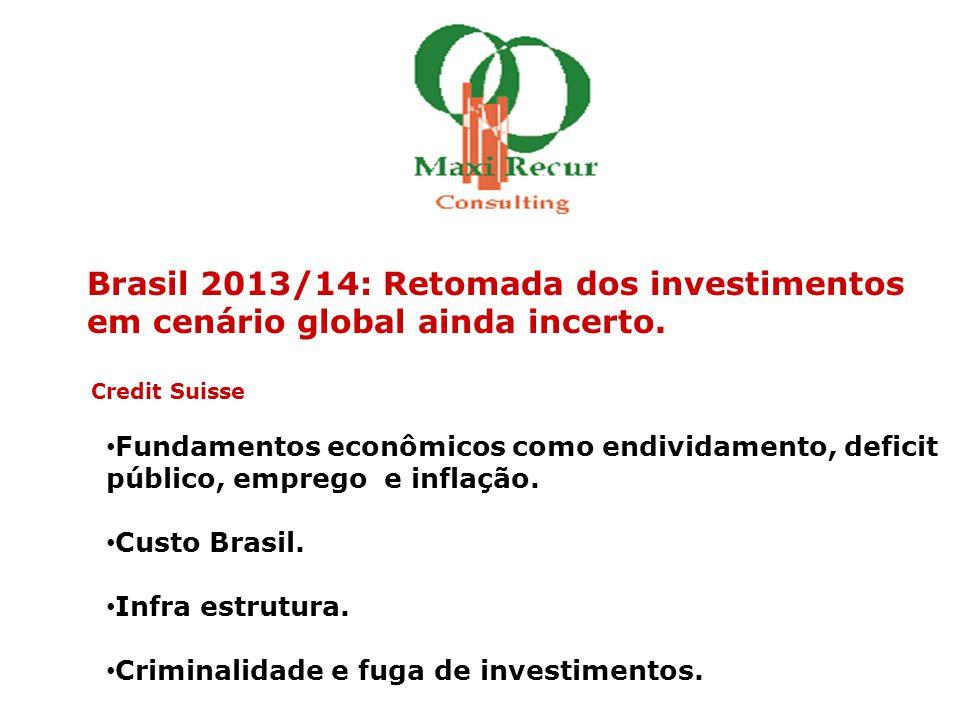 Brasil 2013/14: Retomada dos investimentos