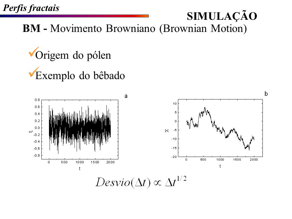 BM - Movimento Browniano (Brownian Motion)