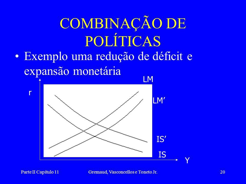 COMBINAÇÃO DE POLÍTICAS