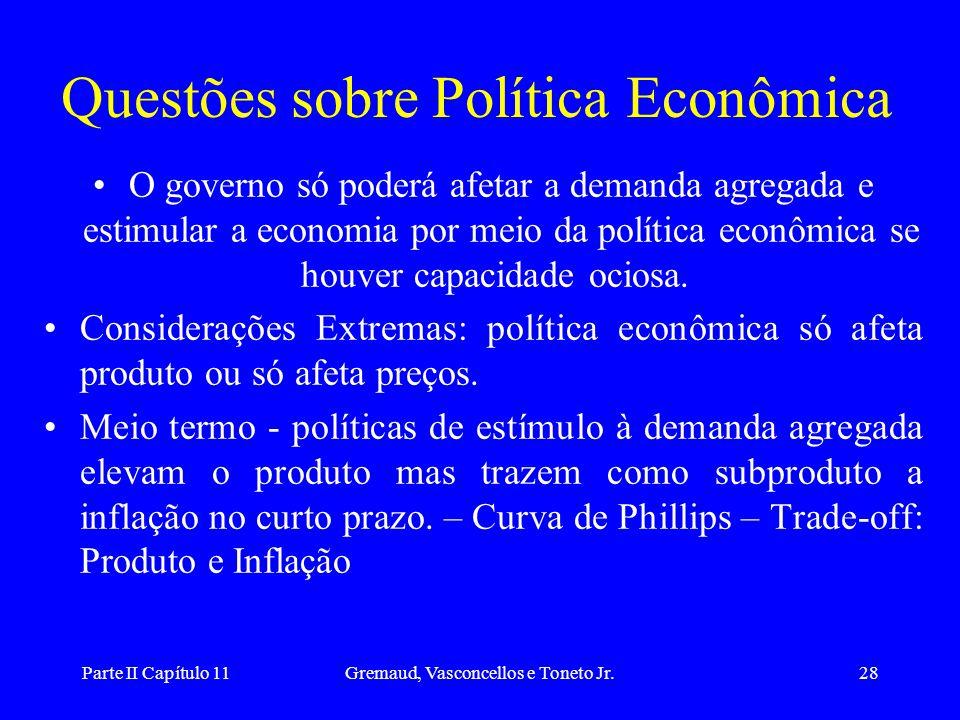 Questões sobre Política Econômica