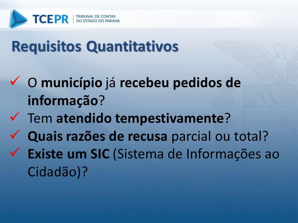 Requisitos Quantitativos