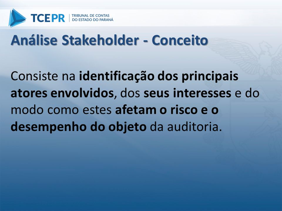 Análise Stakeholder - Conceito