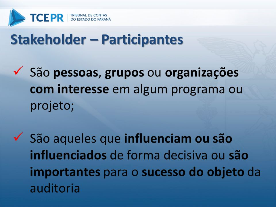 Stakeholder – Participantes