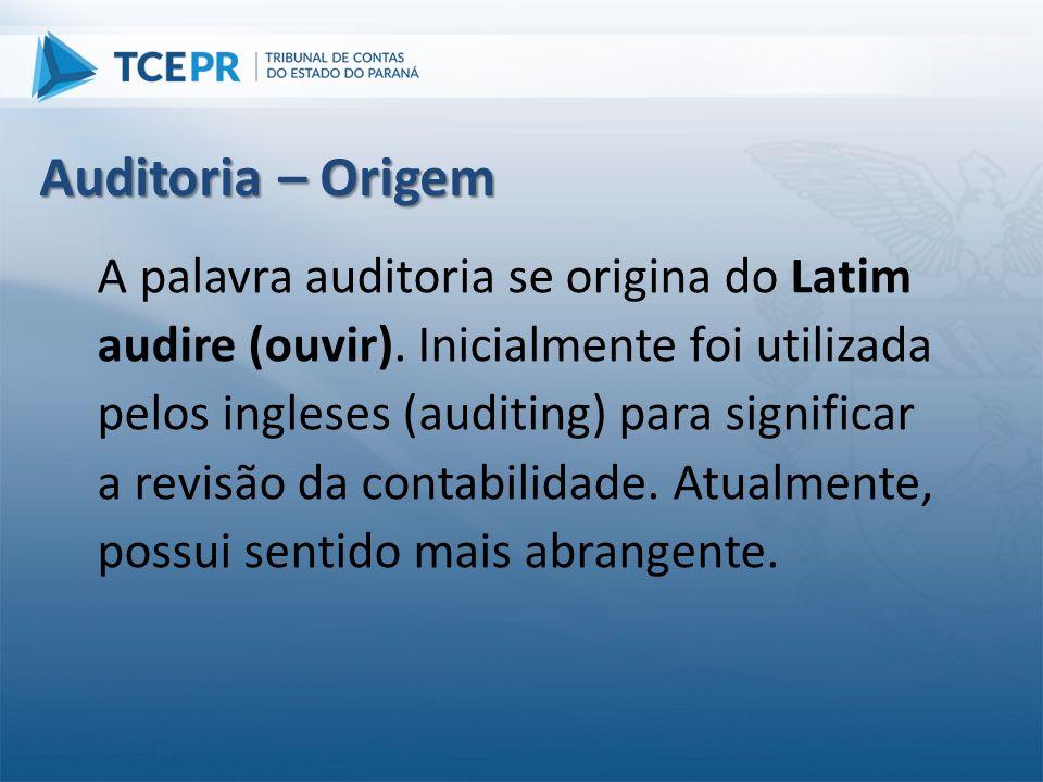 Auditoria – Origem