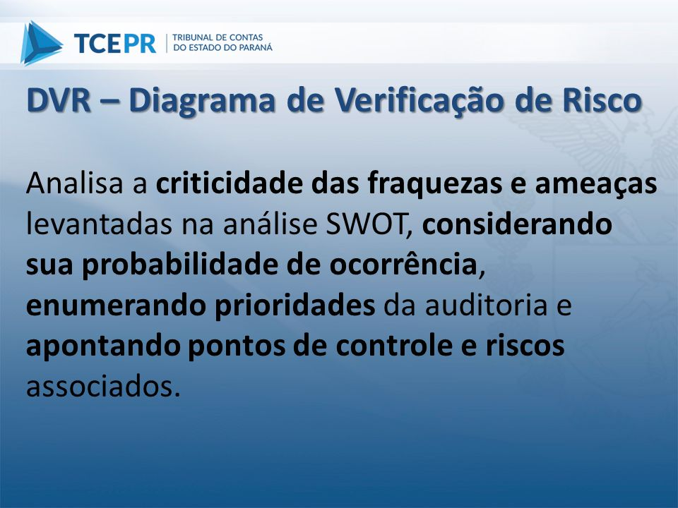 DVR – Diagrama de Verificação de Risco