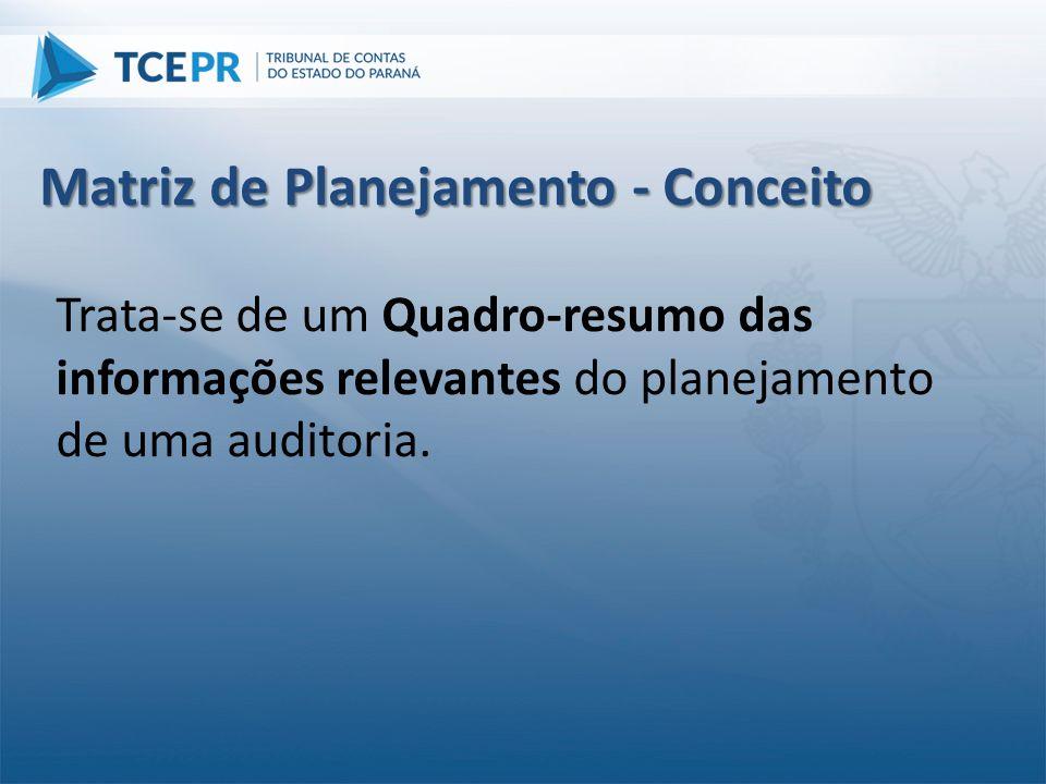 Matriz de Planejamento - Conceito