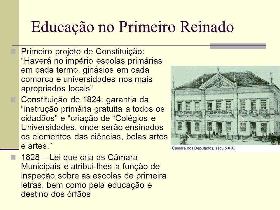 Educação no Primeiro Reinado