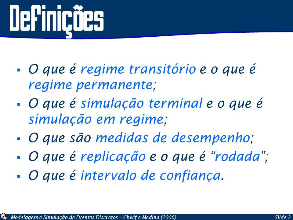 Definições O que é regime transitório e o que é regime permanente;