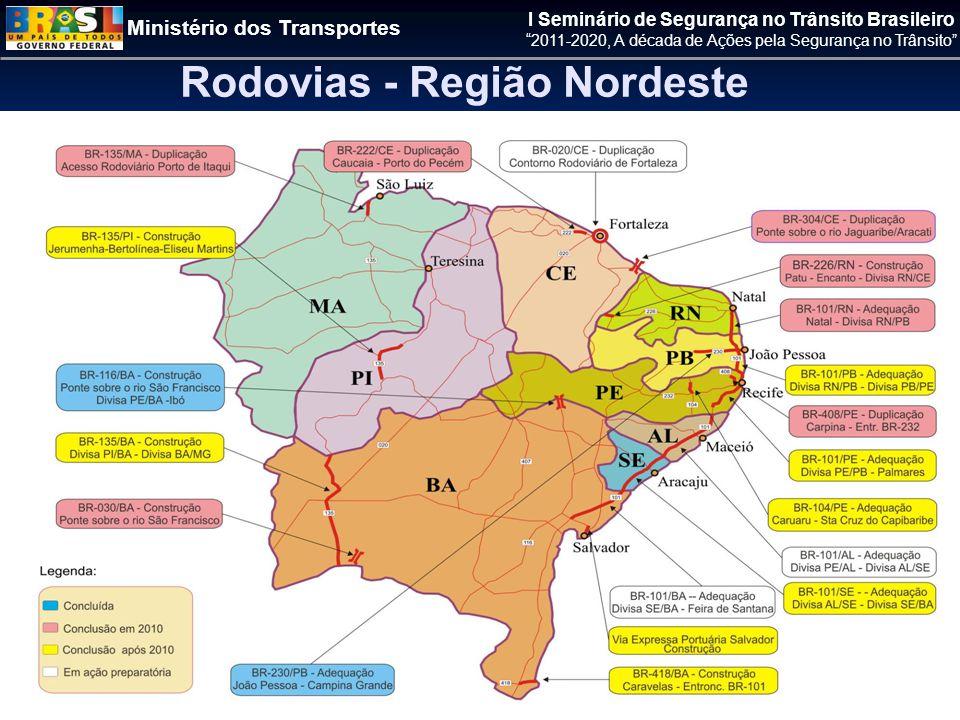 Rodovias - Região Nordeste