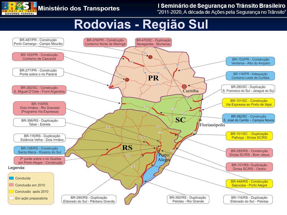 Rodovias - Região Sul