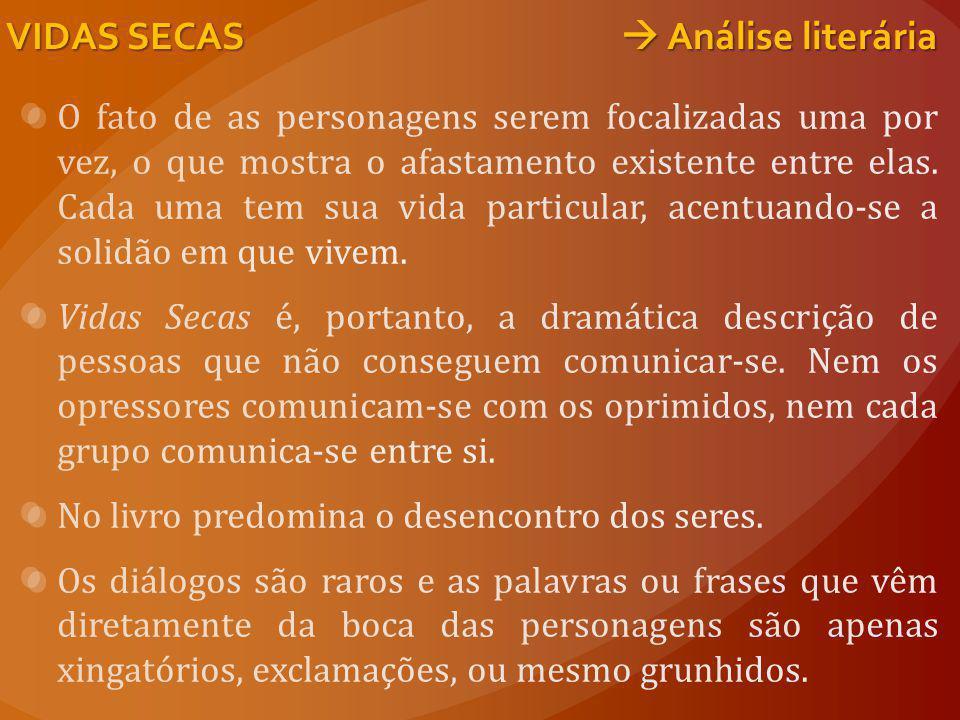 VIDAS SECAS  Análise literária
