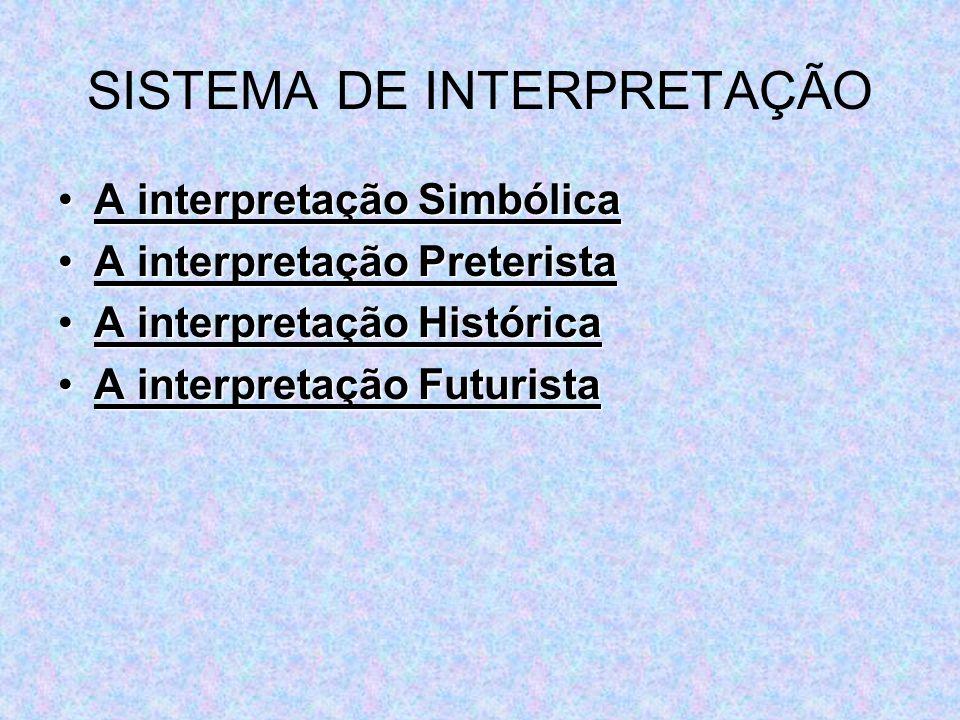 SISTEMA DE INTERPRETAÇÃO