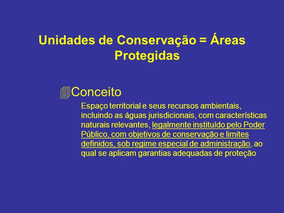 Unidades de Conservação = Áreas Protegidas