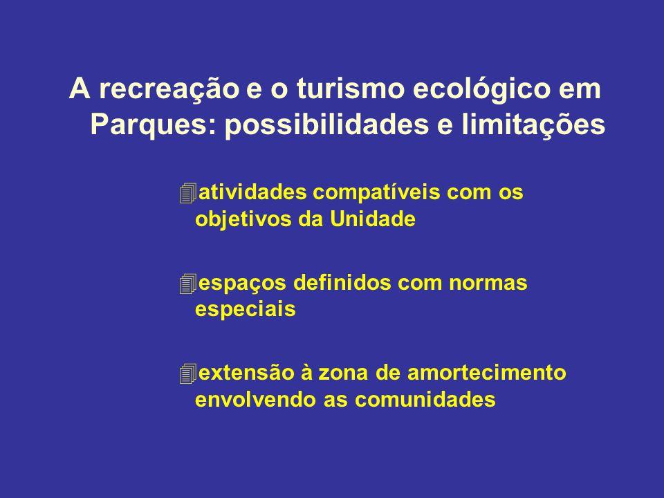 A recreação e o turismo ecológico em Parques: possibilidades e limitações