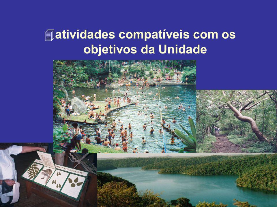 atividades compatíveis com os objetivos da Unidade