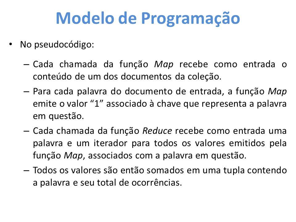 Modelo de Programação No pseudocódigo: