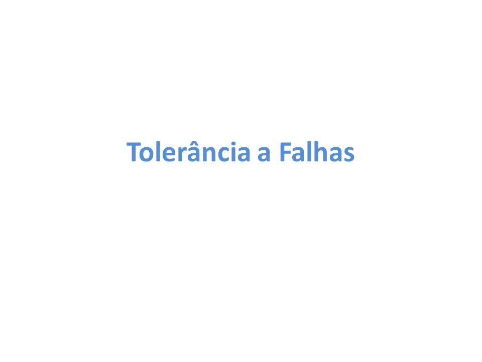 Tolerância a Falhas Nessa seção será explicado como o MapReduce lida com as falhas que ocorrem no sistema.