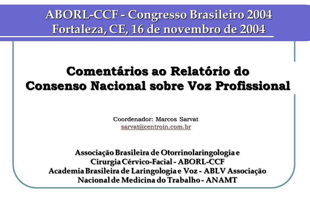 ABORL-CCF - Congresso Brasileiro 2004