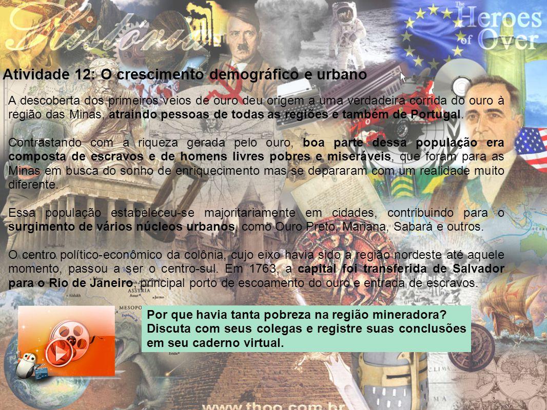 Atividade 12: O crescimento demográfico e urbano