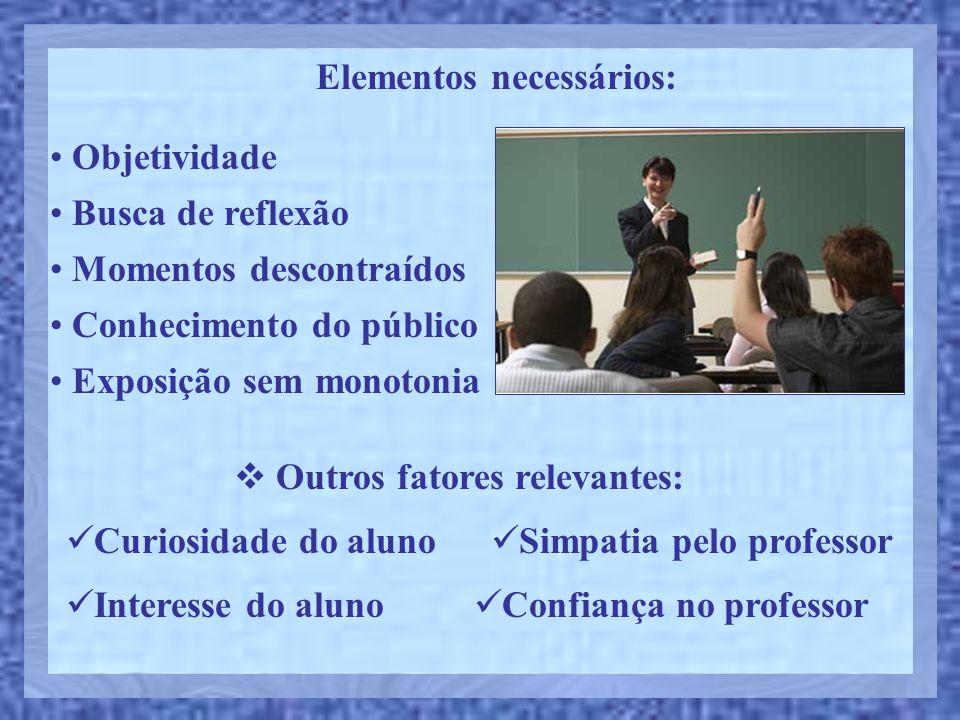 Elementos necessários: