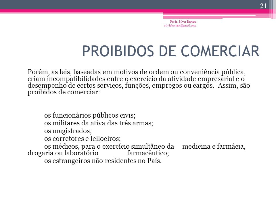 PROIBIDOS DE COMERCIAR