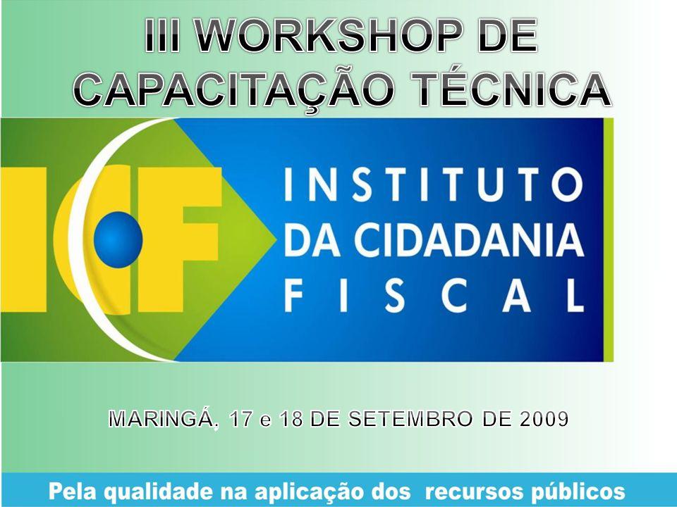 III WORKSHOP DE CAPACITAÇÃO TÉCNICA