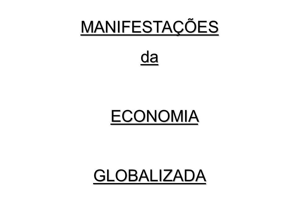 MANIFESTAÇÕES da ECONOMIA GLOBALIZADA