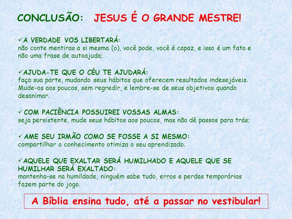 A Bíblia ensina tudo, até a passar no vestibular!