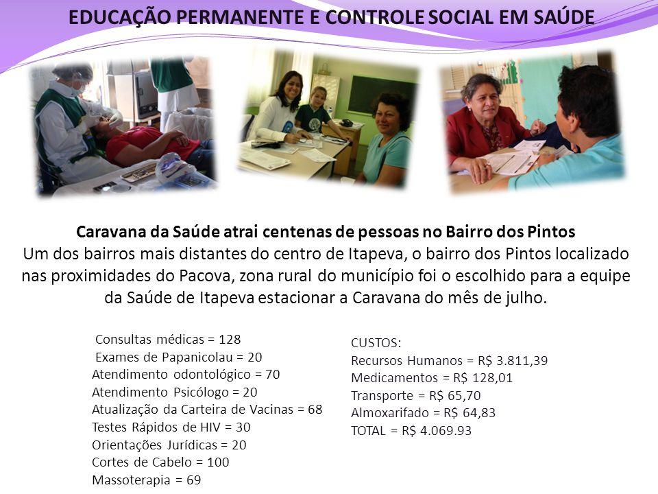 EDUCAÇÃO PERMANENTE E CONTROLE SOCIAL EM SAÚDE